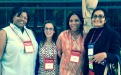 Iesha Jefferson, Amanda Anderson, Nichole Ritz and Elaine George at the President's Hospitality Reception